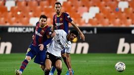 Hasil Liga Spanyol: Messi 2 Gol, Barcelona Kalahkan Valencia