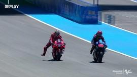 VIDEO: Momen Quartararo Cedera Arm Pump di MotoGP Spanyol