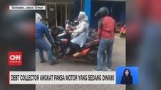 VIDEO: Debt Collector Angkat Paksa Motor Yang Sedang Dinaiki
