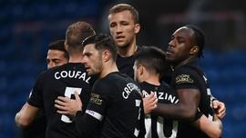 Hasil Liga Inggris: West Ham Menang 2-1 Atas Burnley