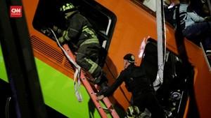 VIDEO: Evakuasi Korban Insiden Rel Layang Kereta Meksiko