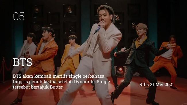 Pada Mei 2021, sederet idol K-pop hingga aktor akan merilis single dan album terbaru.