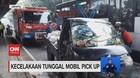 VIDEO: Kecelakaan Tunggal Mobil Pick Up, Pengemudi Terjepit