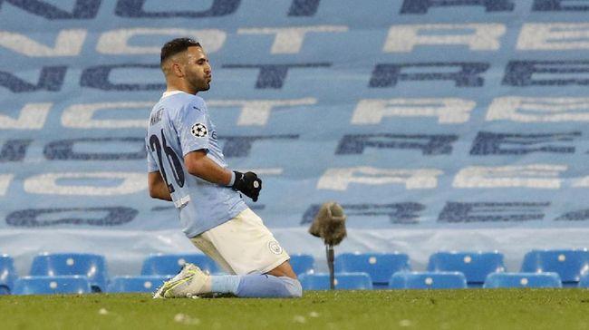 Pahlawan kemenangan Manchester City Riyad Mahrez mengucapkan alhamdulillah usai membawa The Citizens lolos ke final Liga Champions.