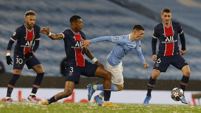 Tim kaya raya Paris Saint Germain (PSG) sering kali memble saat berhadapan dengan Manchester City di panggung sepak bola Eropa.