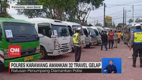 VIDEO: Polres Karawang Amankan 32 Travel Gelap