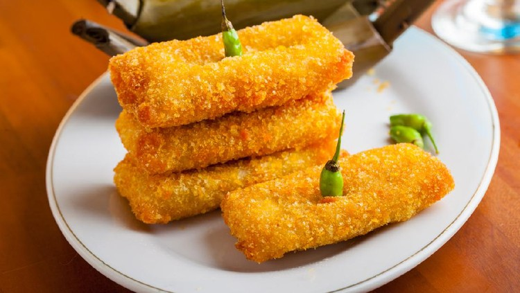 Indonesian Food Risoles on white plate