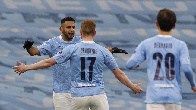 Manchester City unggul 1-0 atas PSG di babak pertama leg kedua semifinal Liga Champions di Stadion Etihad, Rabu (5/5) dini hari WIB.