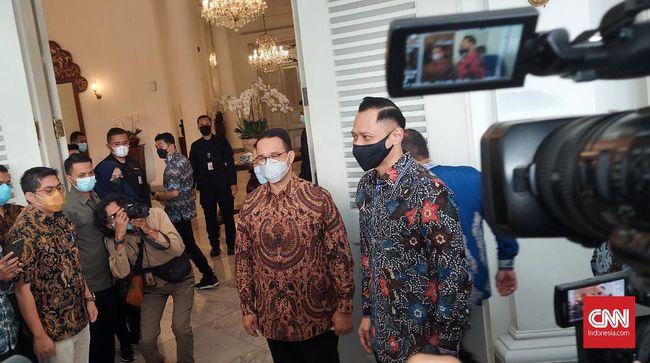 Gubernur DKI Anies Baswedan mendoakan kepemimpinan AHY di Partai Demokrat makin solid pasca-kasus KLB.