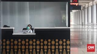 FOTO : Bandara SMB II Palembang Sepi Hari ke-1 Larangan Mudik