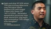 Sebanyak 75 pegawai KPK yang dinyatakan tak lulus tes wawasan kebangsaan menjadi polemik baru di tubuh lembaga antirasuah.