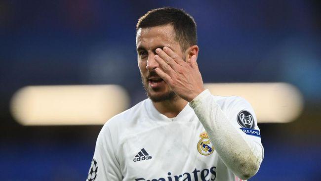 Eden Hazard tertangkap kamera tertawa gembira di saat Real Madrid dipastikan tersingkir dari ajang Liga Champions.
