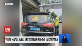 VIDEO: Viral Nopol Biru Kekaisaran Sunda Nusantara