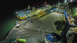 FOTO: Sunyi Pelabuhan Merak Saat Larangan Mudik