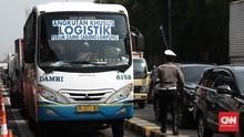 Rombongan Pekerja Protes Penyekatan di Tol Cikampek