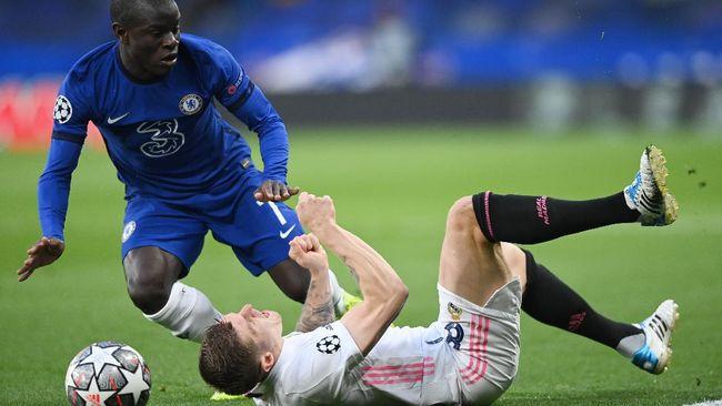 Gelandang Chelsea N'Golo Kante menjadi inspirator dalam kemenangan The Blues atas Real Madrid di leg kedua semifinal Liga Champions.