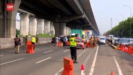 VIDEO: Petugas Dirikan 31 Titik Penyekatan di DKI Jakarta