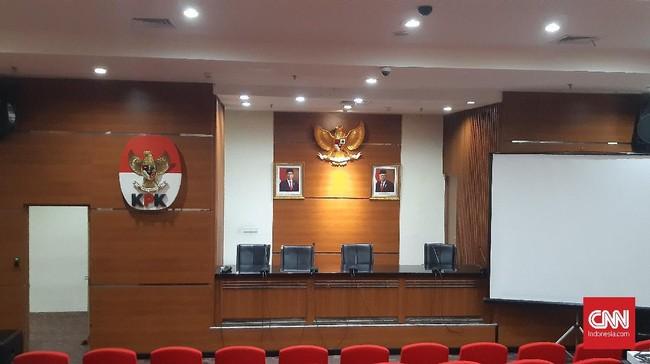 Lambang Negara & Foto Jokowi-Ma'ruf Jadi Tampilan Baru KPK