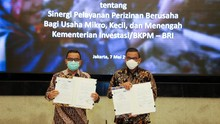 Permudah Perizinan UMKM, BRI MoU dengan Kementerian Investasi