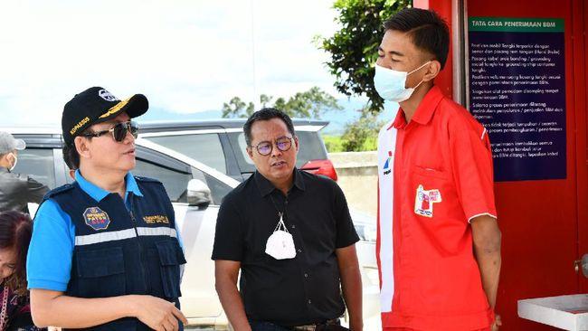 BPH Migas menyempatkan meninjau langsung Penyalur Mini Pertashop di Kerinci yang memiliki omzet harian tinggi di hari ke-3 Goes to Sumatera.