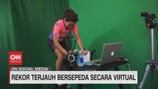 VIDEO: Rekor Terjauh Bersepeda Secara Virtual