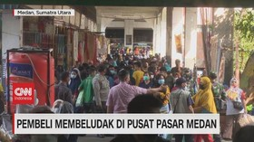 VIDEO: Pembeli Membludak di Pusat Pasar Medan