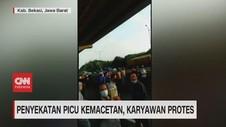 VIDEO: Penyekatan Picu Kemacetan, Karyawan Protes