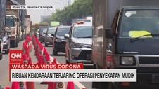 VIDEO: Ribuan Kendaraan Terjaring Operasi Penyekatan Mudik