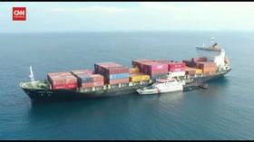VIDEO: Kapal Australia dan Singapura Tabrakan di Bintan
