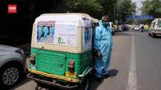 VIDEO: Bajaj Diubah Jadi Ambulans Antar Pasien Covid-19 India