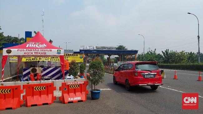 Gerbang Tol Bekasi Lengang, Penyekatan Hanya Dilakukan 2 Jam