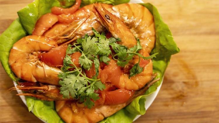 Ilustrasi menu udang