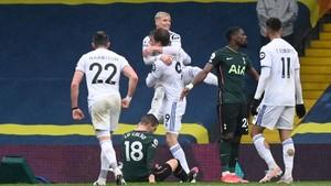 Hasil Liga Inggris: Leeds Kalahkan Tottenham 3-1
