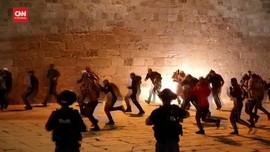 VIDEO: Polisi Israel Amankan Demo Warga Palestina, 184 Luka
