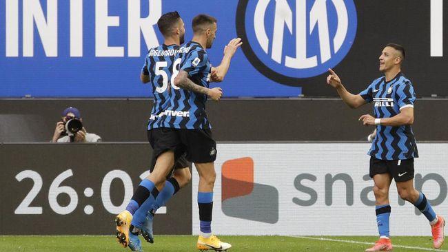 Inter Milan berhasil menaklukkan Sampdoria dengan skor 5-1 dalam laga Liga Italia di Giuseppe Meazza, Sabtu (8/5) waktu setempat.
