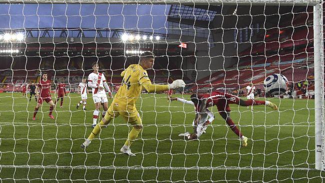 Liverpool berhasil mengalahkan Southampton dalam laga Liga Inggris di Anfield, Minggu (9/5) dini hari WIB.