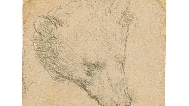 Lukisan Kepala Beruang karya maestro legendaris, Leonardo Da Vinci, ditaksir bisa tembus setara Rp236 miliar di pelelangan.