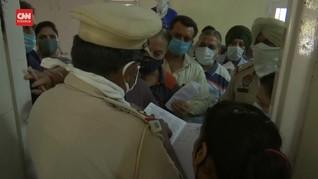 VIDEO: Padati Pusat Vaksinasi, Warga India Abaikan Prokes