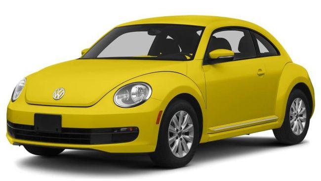 Mobil kuning itu teridentifikasi Volkswagen Beetle produksi 2013.
