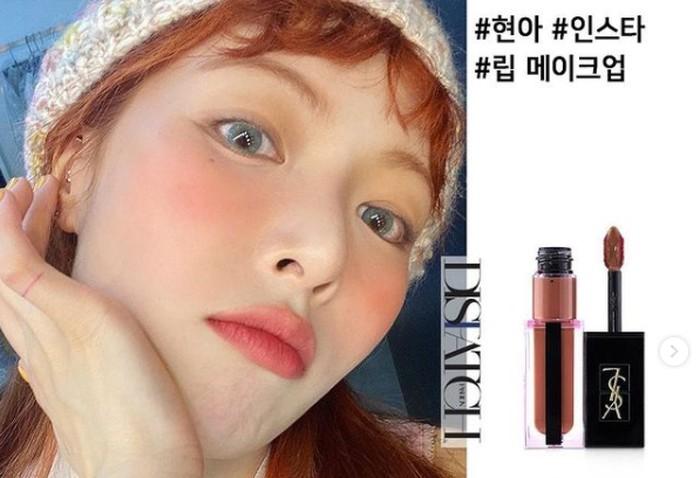 7. Hyuna - YSL / foto: instagram.com/dispatch_beauty
