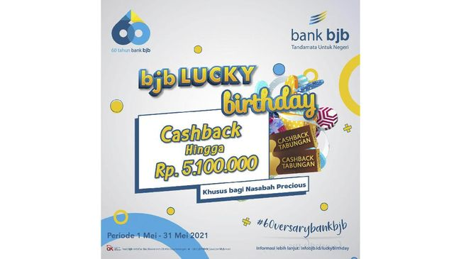 Untuk merayakan HUT ke-60, bank bjb telah menyiapkan sejumlah program hadiah dan promo menarik bagi para nasabah loyal.