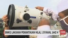 VIDEO: BMKG Lakukan Pemantauan Hilal 1 Syawal 1442 H