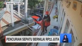VIDEO: Pencurian Sepatu Bernilai Rp.11 Juta Terekam CCTV