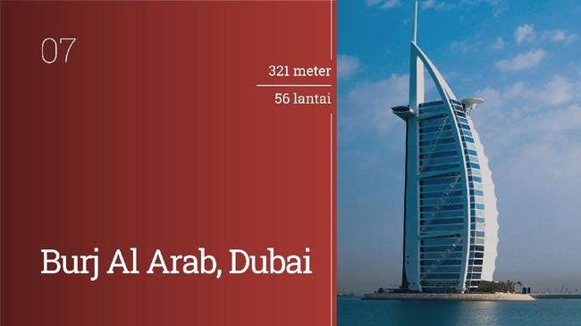 Dubai mendominasi peringkat sepuluh besar hotel tertinggi di dunia. Berikut daftar lengkapnya.
