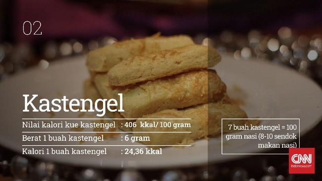 Anda mungkin tak membayangkan kalau kue kering yang kecil ternyata punya kalori yang nyaris sama dengan saat Anda makan nasi.
