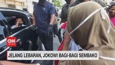 VIDEO: Jelang Lebaran, Jokowi Bagi-Bagi Sembako