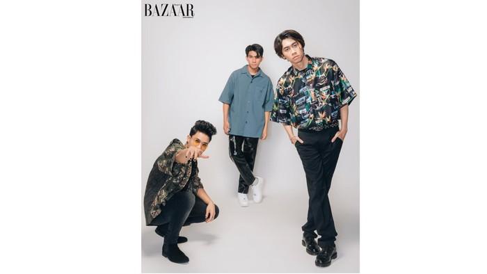 (kiri ke kanan: Farhan, Riki, Shandy) UN1TY juga mengubah gaya rambut mereka, hingga memberikan image yang lebih dewasa / foto: harpersbazaar.co.id