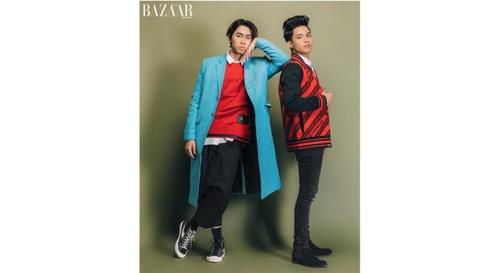 (kiri ke kanan: Shandy, Farhan) Setelah ditunggu-tunggu penggemar, akhirnya UN1TY melakukan pemotretan perdana mereka bersama Harpers Bazaar Indonesia / foto: harpersbazaar.co.id