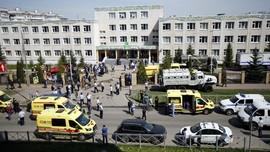 FOTO: Horor Penembakan di Sekolah Rusia Renggut 8 Nyawa
