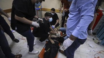 Kementerian Kesehatan Palestina menyebut sebanyak 65 orang tewas karena serangan Israel, 16 di antaranya anak-anak